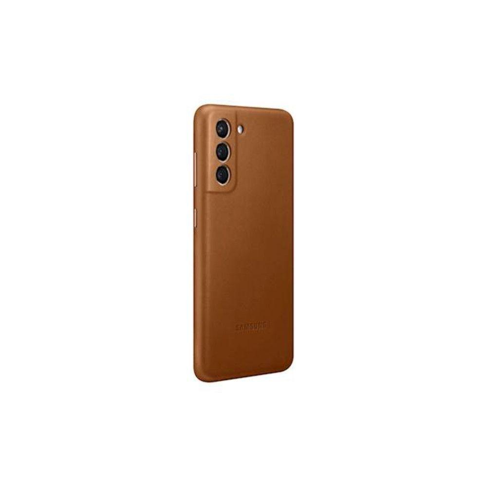 """Slika Samsung Usnjen Ovitek """"Leather Cover"""" Za Galaxy S21 - Rjav"""