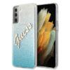 "Slika Originalen Trden Ovitek Guess Za Samsung Galaxy S21 Ultra ""Blue Glitter Vintage"""