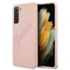 "Slika Originalen Trden Ovitek Guess Za Samsung Galaxy S21 Ultra ""Pink Vintage Logo Tone On Tone"""