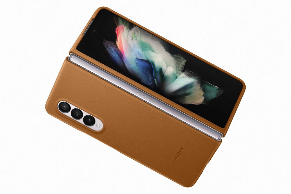 """Slika Samsung usnjen ovitek """"Leather Cover"""" za Galaxy Z Fold3 - Rjav"""