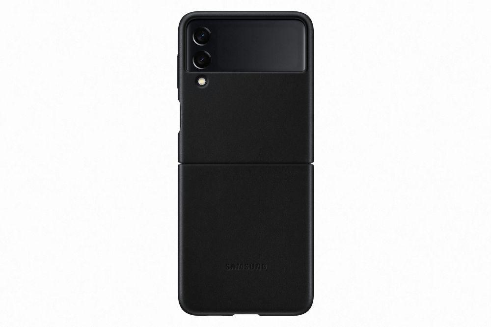 """Slika Samsung usnjen ovitek """"Leather Cover"""" za Galaxy Z Flip3 - Črn"""