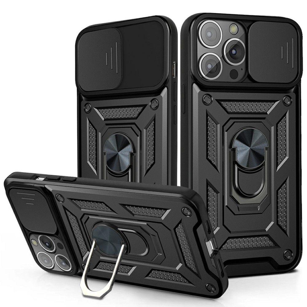 "Slika Robusten ovitek ""Kickstand"" za iPhone 13 Mini - Črn"