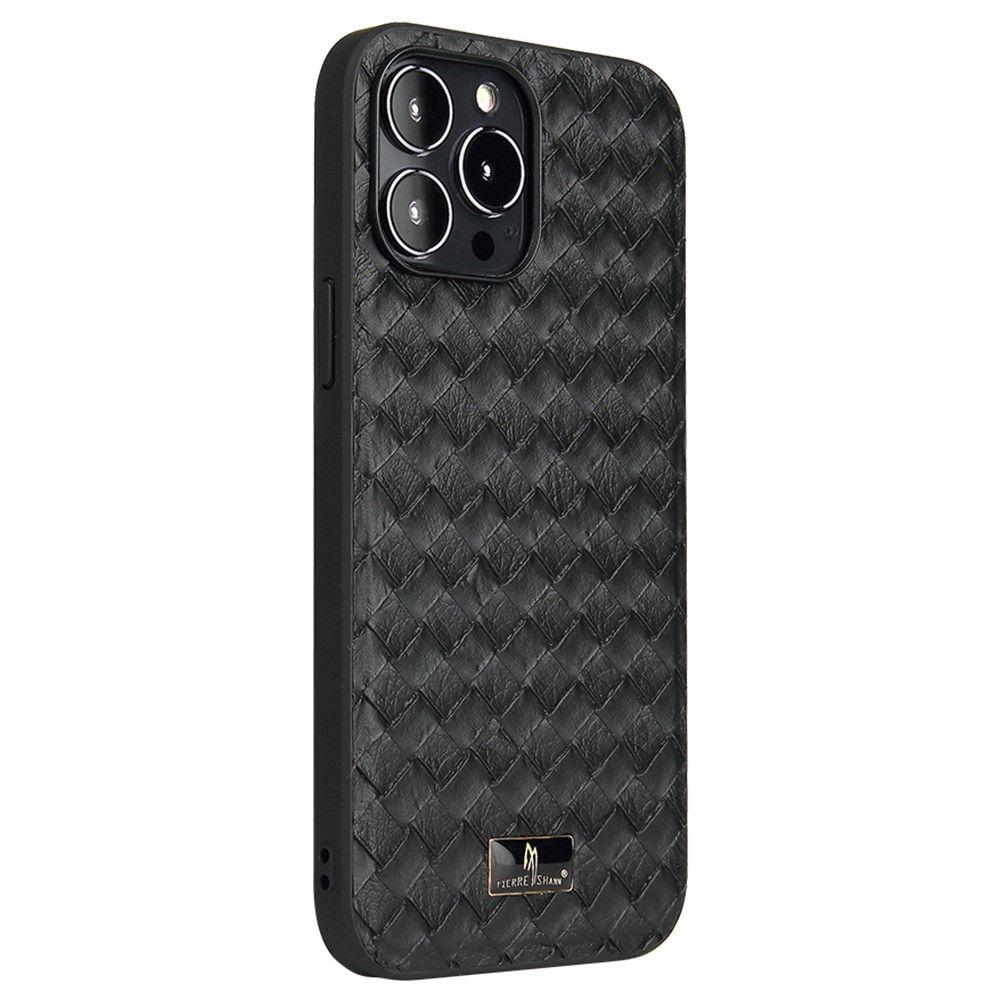 "Slika Silikonski ovitek TPU ""Woven Pattern"" za iPhone 13 Pro Max - Črn"