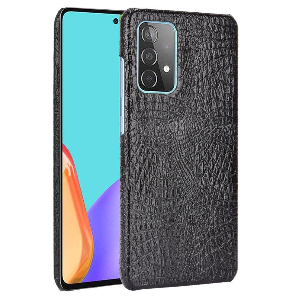"""Slika Silikonski ovitek TPU """"Crocodile"""" za Samsung Galaxy A52/A52 5G/A52s 5G - Črn"""